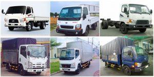 Các loại xe tải phổ biến tại tphcm