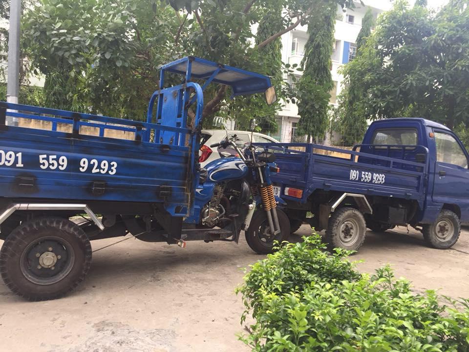 so sánh xe tải nhỏ chuyển nhà và xe ba gác