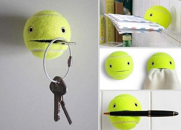Bóng tennis được sử dụng lại rất hữu ích