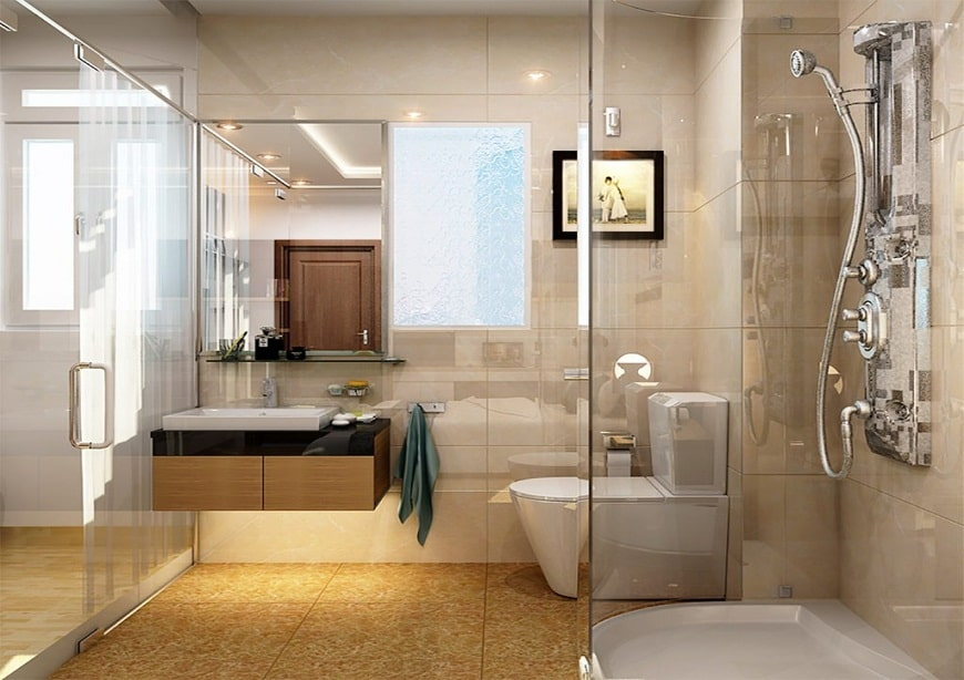 Theo phái Bát trạch thì nên đặt nhà vệ sinh ở Tây Bắc hoặc Đông ngôi nhà thì bình an.
