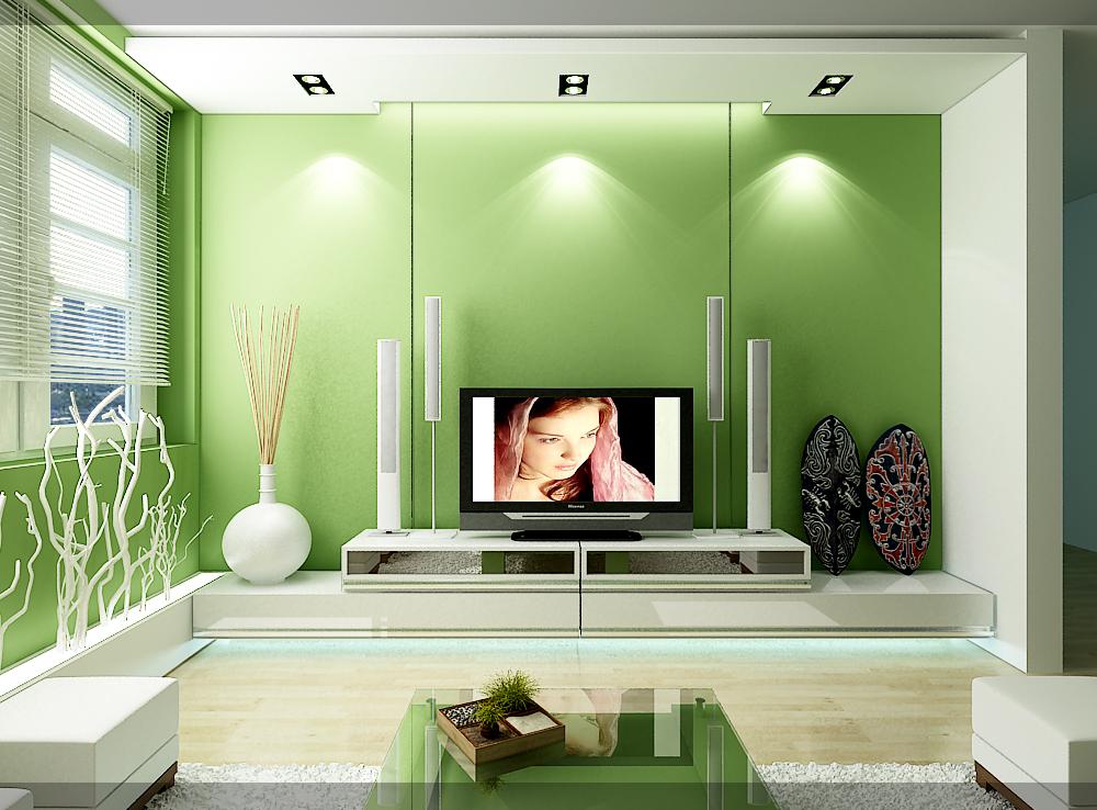 Phong thủy phòng khách màu xanh lá hợp với mệnh Mộc, mệnh Hỏa