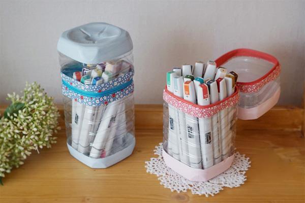 Tận dụng vỏ chai nhựa Tái chế thành lọ bút