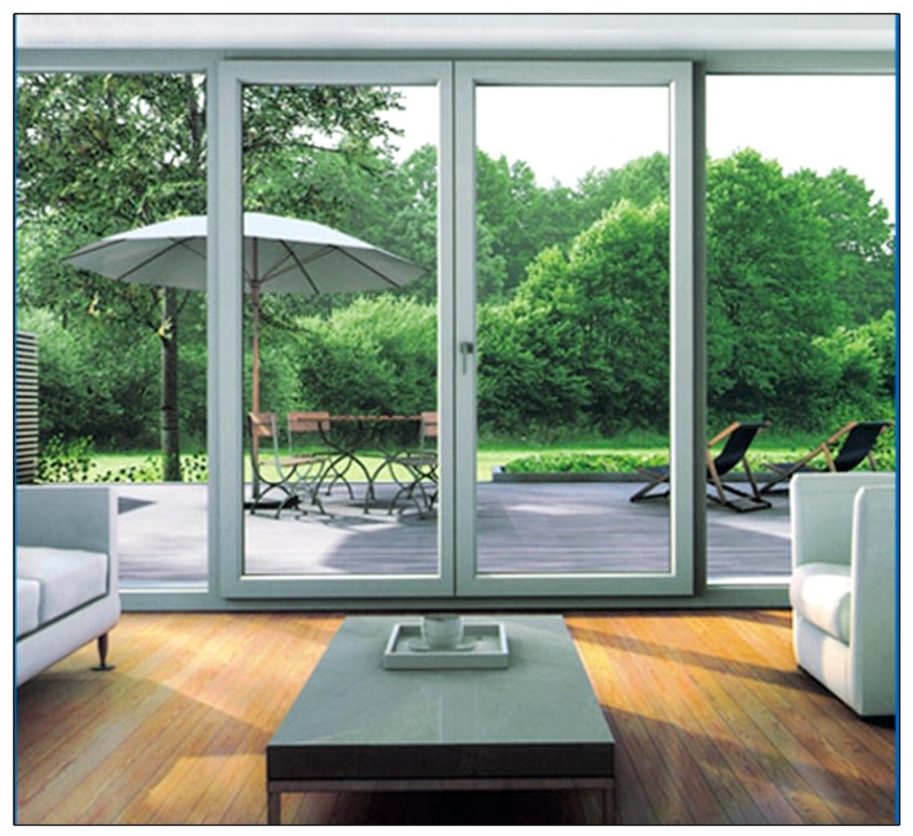 Thiết kế cửa kính giúp phòng khách sáng sủa hơn