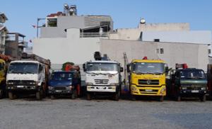 Đội ngũ xe cẩu đủ loại phục vụ mọi nhu cầu khách hàng