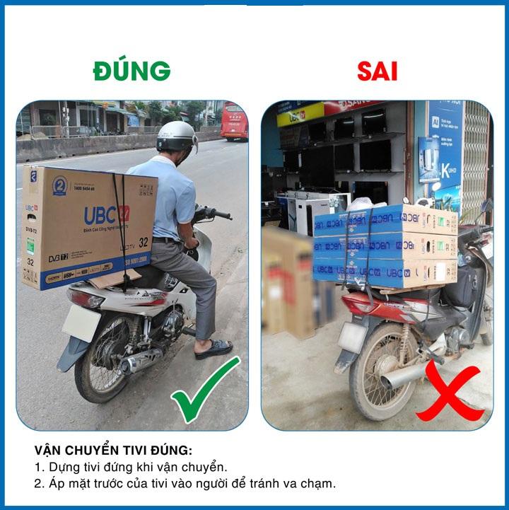 Những cách vận chuyển tivi bằng xe máy hợp pháp