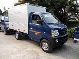 Kích thước thùng xe tải 750kg phổ biến là: 2,1m x 1.38m x 1.3m (dài x rộng x cao)