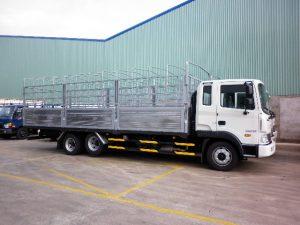 Kích thước thùng xe tải 12 tấn là 9,75m x 2,48m x 2,75m (dài x rộng x cao).