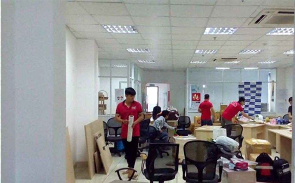 Dịch vụ chuyển văn phòng bán phần
