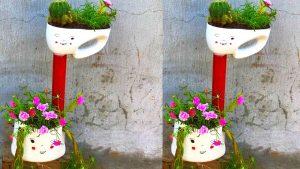 Tái chế chai nhựa thành chậu hoa