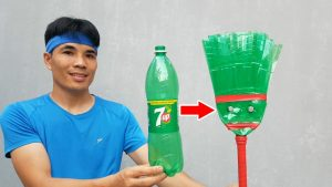 Tái chế vỏ chai làm chổi quét nhà