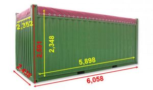 Chi tiết kích thước container 20, 48, 50, 60 feet