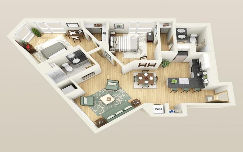 Tránh các căn chung cư có hình dạng méo mó và khiếm khuyết