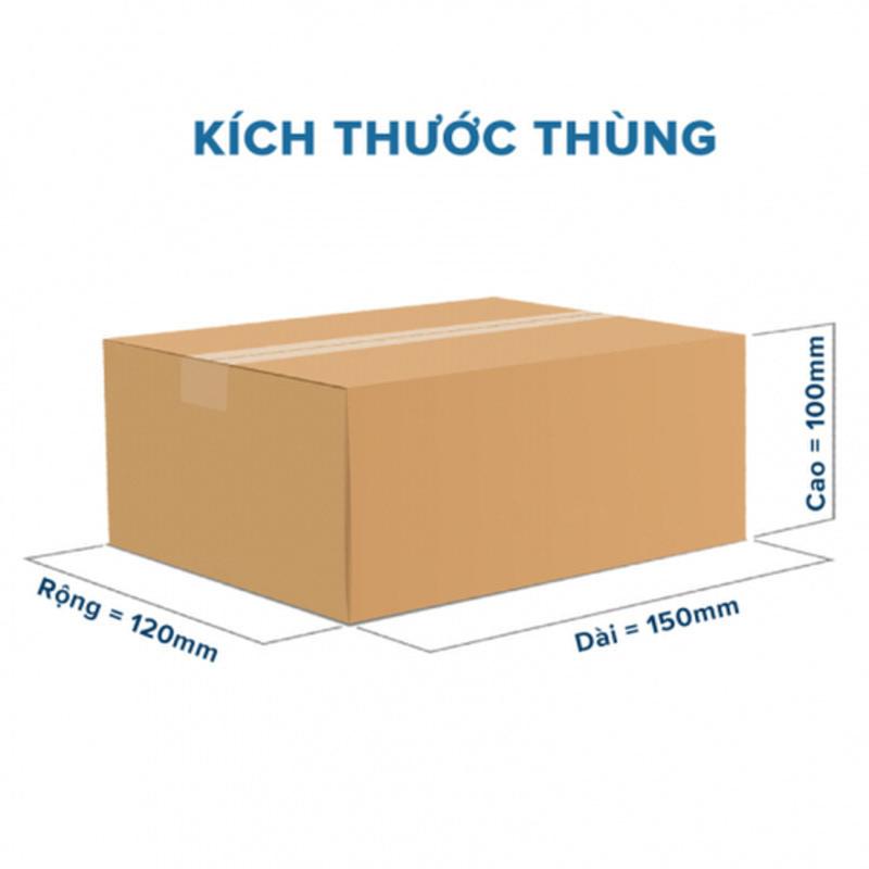 Giá thùng giấy carton sẽ phụ thuộc vào kích thước thùng carton